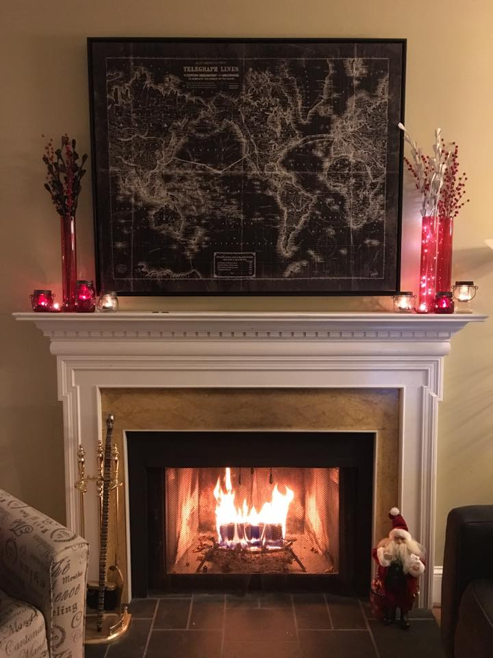 Fireplace in Wilmington DE townhome